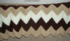 I love this classic crochet afghan.  Crochet Classic Ripple Afghan - Crochet Me