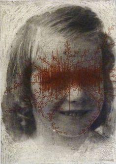 Original etching 'the girl next door',hand pulled