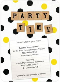 Tiles and Dots - Party Invitations - Hallmark - White | www.TinyPrints.com