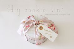 washi tape edge cookie tin #washitape #cookie #tin #diy
