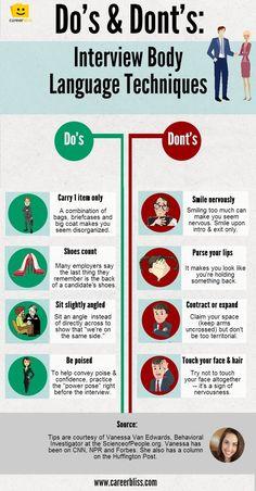 Body Language Tips for Job Interviews -- #veredus