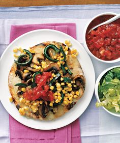 Mushroom and Poblano Tostada recipe dinner, tostada recip, mexican food, yum, vegan recip, poblano tostada, amaz food, tostadas, mushrooms
