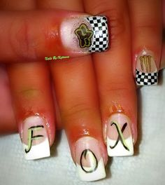 Fox Race day nails