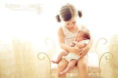 Beautiful - siblings - newborn
