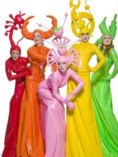 rainbow edg, costum, candi colour, rainbow bright, drag queen, colour fruit, rainbow collect, fabul color, live color