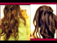 Easy hairstyles hair tutorial, learn how to do 2 everyday waterfall/cascade French fishtail braid, half-up, half-down, updo hairstyles with curls /waves on yourself/your own hair ( step by step) for long hair, for medium hair, and for short hair with extensions. Watch this waterfall tutorial video to learn how to do a waterfall headband hairstyle.