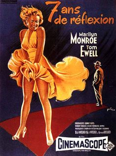 Sept ans de réflexion (1957) #film #cinema #century #fox #comedie #marilyn #monroe #icones #actrices #glamour #sexy #movies #hollywood #annees50 #50s