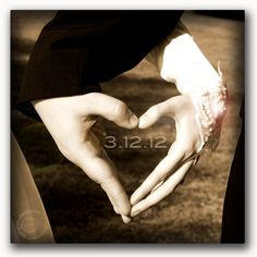 hands into heart w/ date