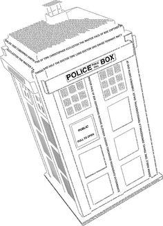 The TARDIS made out of words