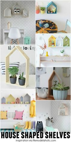 House Shaped Shelves