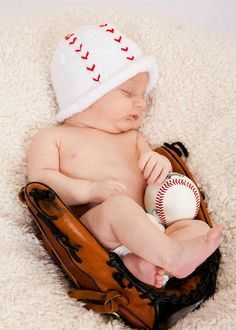 infant knit baseball hat by LuvinglyMade on Etsy, $14.50