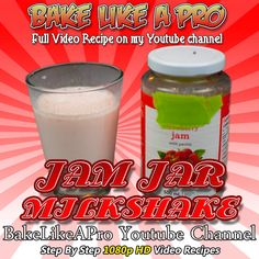 Jam Jar Strawberry Milkshake Recipe ► http://bit.ly/1ucapVH Ever wonder what to do with your empty jam jar ?   Here's a trick my mom used to do many long years ago, and it's what I call my jam jar milkshake.  Thanks for watching :-)  ►My Facebook Page: http://www.facebook.com/BakeLikeAPro  http://instagram.com/bakelikeapro   Please subscribe, like and share if you can, I do appreciate it. http://bit.ly/1ucapVH