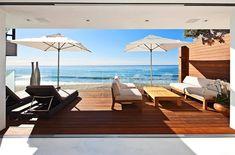 modern house in Malibu living space