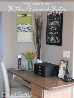 Clean & Scentsible: Organizing a Kitchen Command Center
