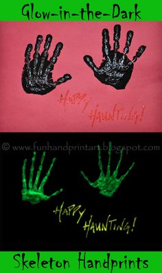 Handprint and Footprint Arts & Crafts... Glow in the Dark