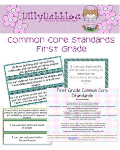 "First Grade Common Core Pack. This is a packet of the first grade common core in ""I can"" and ""We can"" language. The packet includes three ways to display each standard/domain and ways to track student proficiency."
