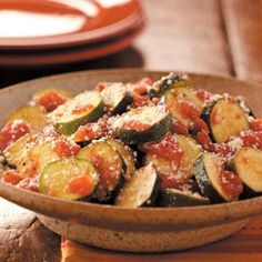 Zucchini Parmesan Recipe from Taste of Home -- shared by Sandi Guettler, Bay City, Michigan