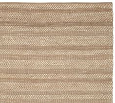 Twill Stripe Jute Rug - Bleached Ivory | Pottery Barn