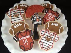 Gamecock baby shower cookies