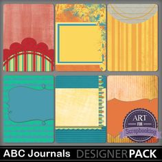 Free ABC Journal Cards from Art For Scrapbooking {via Facebook- store checkout required}