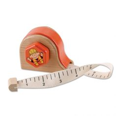 Wooden Measuring Tape - Tape measure with winding cloth tape. forsmallhands.com