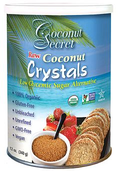 Coconut Secret Raw Coconut Crystals: #Raw, low glycemic, #vegan #Vitacost #BeBox