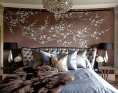 Stylish Bedroom Design with Upholstered Headboard   Picsdecor.com