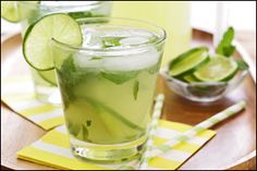 PIN THIS – Virgin Mojito Lemonade and Pineapple Martini drink recipes from Hungry Girl!