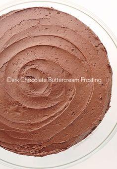 Dark Chocolate Buttercream Frosting Recipe