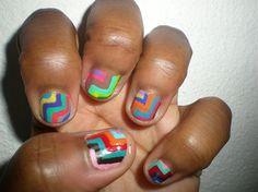Geometric Nails by nailartshow - Nail Art Gallery nailartgallery.nailsmag.com by Nails Magazine www.nailsmag.com #nailart