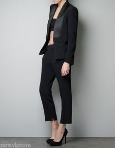Classic menswear with a twist for women. #Zara #suiting #tuxedo