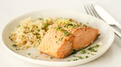 Steamed Salmon with Fresh Herbs and Lemon