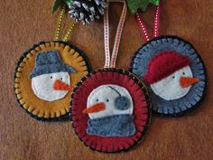 cute felt snowmen ornaments