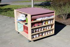 DIY Portable Workbench with Storage   Free Plans   RogueEngineer.com