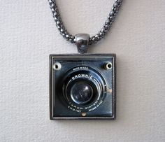 BOX BROWNIE CAMERA Necklace Camera Pendant by ThePendantGarden, $14.95