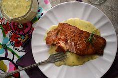 Spice-dusted Salmon w/ Absinthe-Tarragon Beurre Blanc