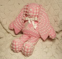 Pink Vintage Chenille Bunny