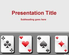 Playing cards PowerPoint template background for presentations