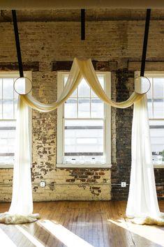 indoor ceremony decor http://www.weddingchicks.com/2014/01/13/diy-dapper-deco-wedding/
