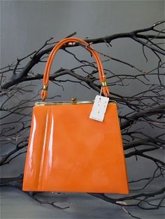 1960's Orange Dead Stock Purse. This would have gone perfectly with my aunt's orange slingbacks!