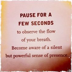 pause for a few seconds.