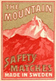 Mountain safety matches (Sweden)