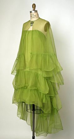 Cocktail ensemble House of Balenciaga  (French, founded 1937) Designer: Cristobal Balenciaga (Spanish, 1895–1972) Date: 1966 Culture: French Medium: silk Dimensions: [no dimensions available] Credit Line: Gift of Claudia-Antoinette de Osborne, 1974