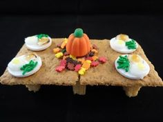 ▶ Mini Edible Thanksgiving Table and Feast - with yoyomax12 - YouTube