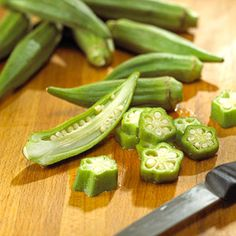 Okra: Add one pound of sliced okra to a pan. Cover with water and cook for 5 minutes. Add one 14.5-ounce can of stewed tomatoes, 1 green pepper and 2 tablespoons of chopped onion. Simmer for 15 minutes. Add salt and pepper to taste.