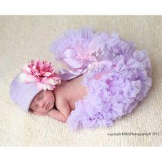 Baby Pink  Lavender Newborn Baby Pettiskirt ~ Beautiful newborn pettiskirt by Trixi Lou Couture.
