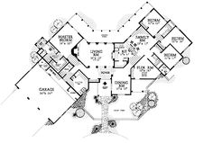 Home Plans HOMEPW14782 - 2,966 Square Feet, 4 Bedroom 3 Bathroom Spanish Home with 3 Garage Bays