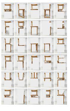 abc, chair form, chairs, font, art, alphabet, creativ letter, design, typographi