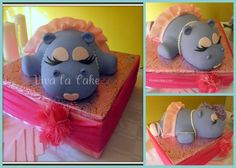 Children's Birthday Cakes - All cake is carved using round, sheet and ball pans. all cake, no RKT. Hippo in a Tutu