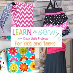 Learn to Sew Series for Kids and Teens this Summer! Yes, except I need this for me. :)
